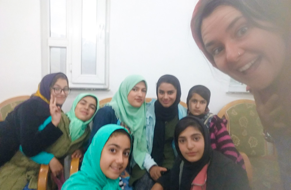 Hanging out with school girls in Iran