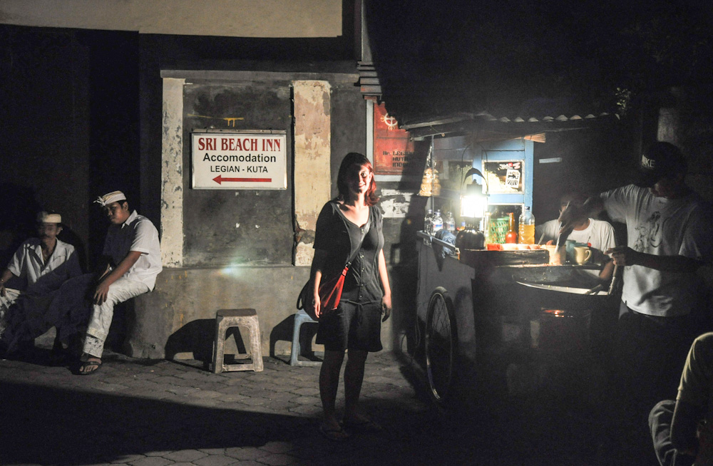 Checking out the street food scene of Bali