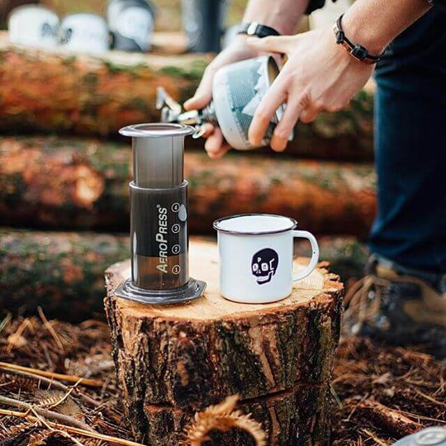 Brewing coffee while camping, with the AeroPress Coffee Maker