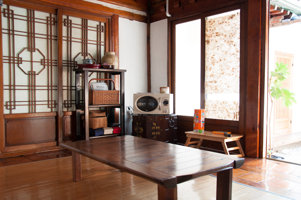 Common Area, With Traditional Korean Wood Furniture