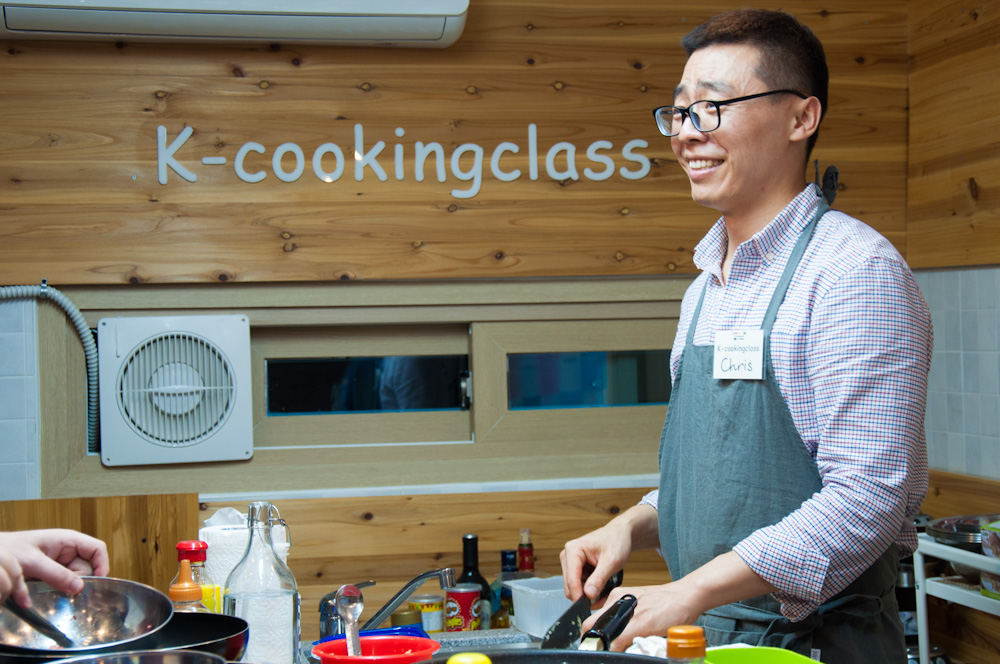 Chris, the master-mind and master-chef behind K-cookingclass