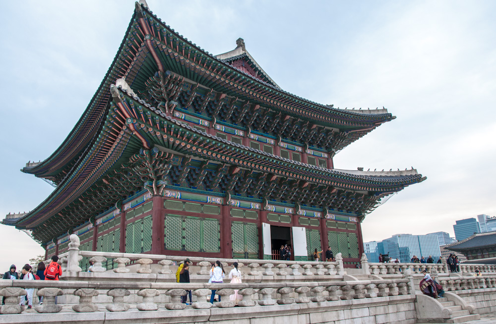Gyeongbok Palace, only a couple of minutes walk away from Raon's Guesthouse