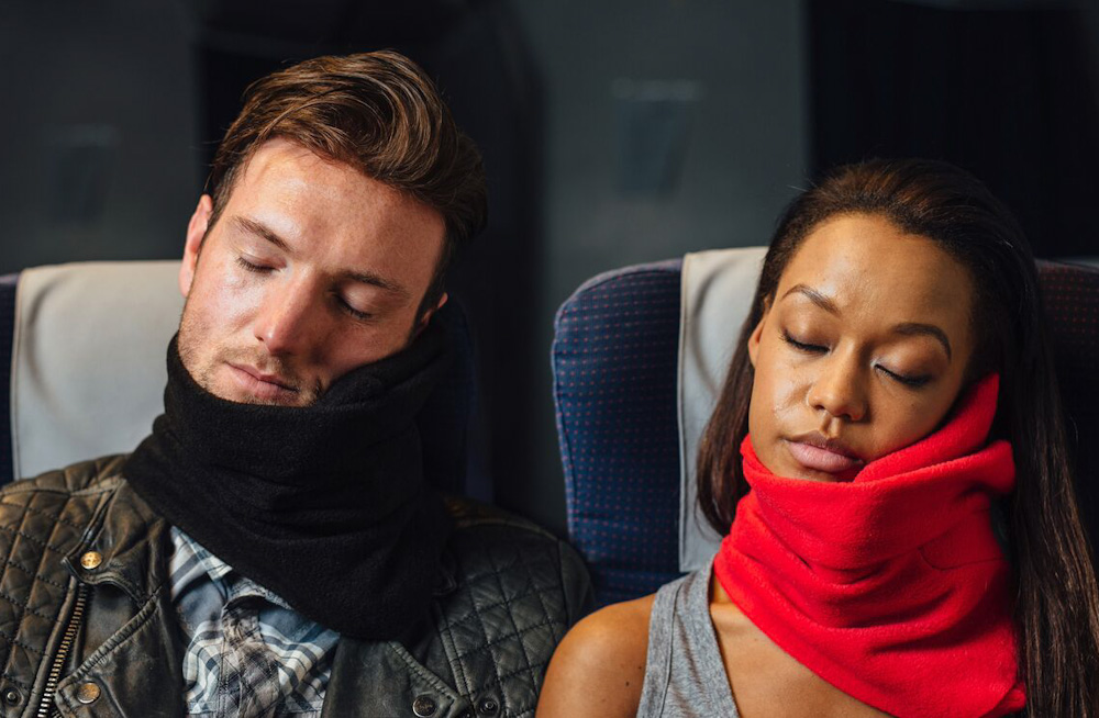 Sleep with better neck support using the Trtl Travel Pillow