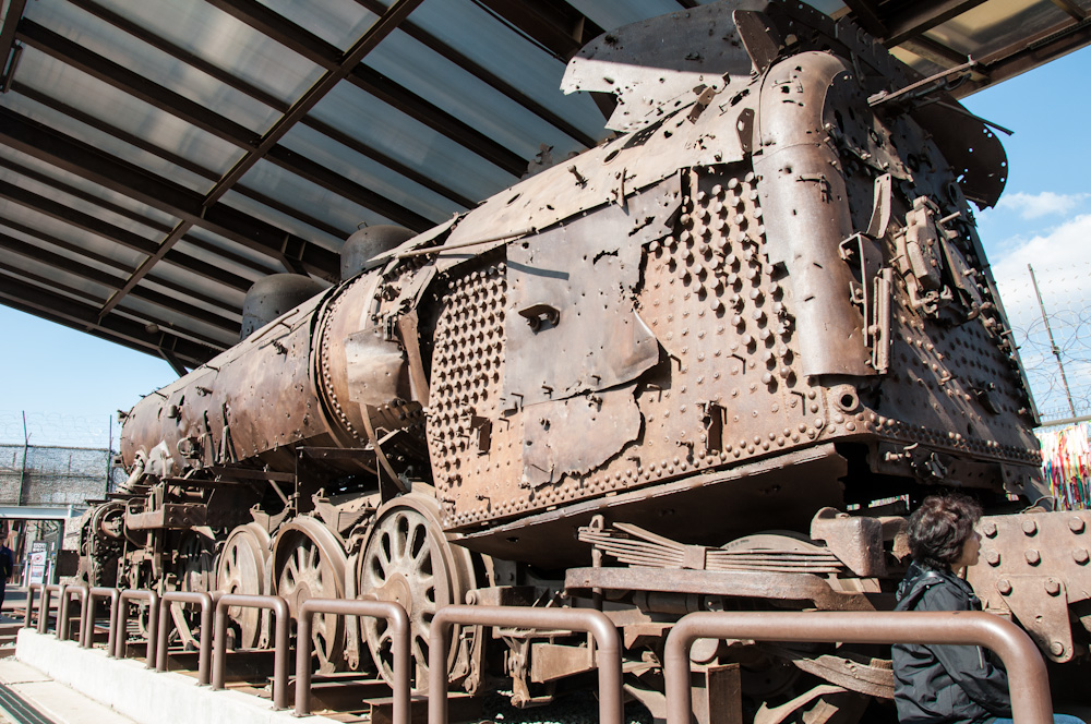 The last train to have ever crossed between what is now North and South Korea, is now rusting away in Imjingak Village