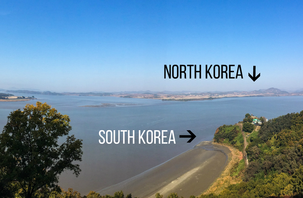 North and South Korea, as seen from the Odusan Unification Observatory
