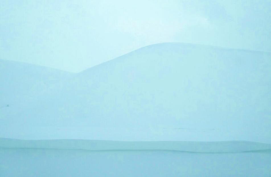 Blisteringly white Kyrgyzstan.