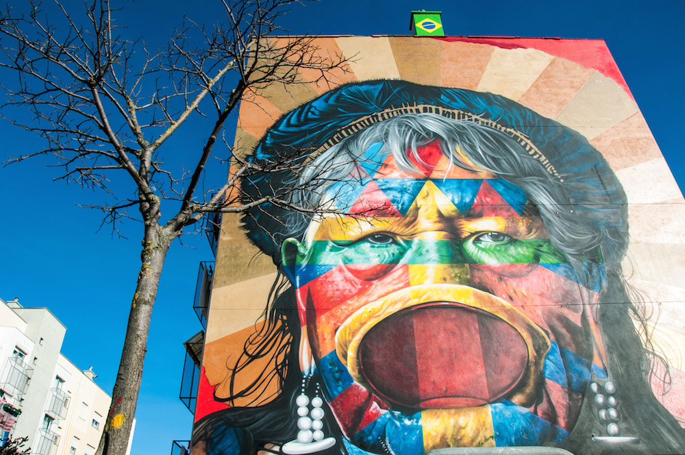 Graffiti by Eduardo Kobra in Marvila, Lisbon