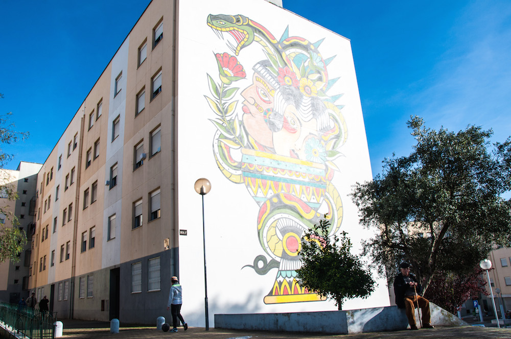 Graffiti by Miguel Brum in Marvila Lisbon