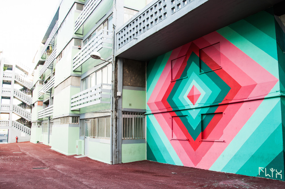 Street art in Bairro das Salgadas, Marvila Lisbon