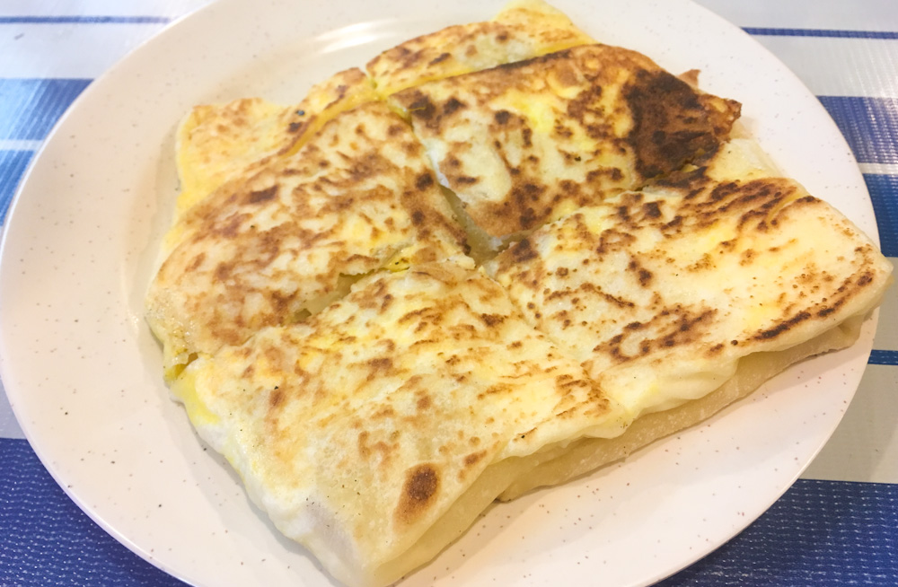 Stuffed Roti Canai at Pushpa's Indian Food in Batu Ferringhi