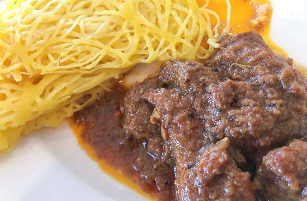Rendang Beef, dry curry from Indonesia