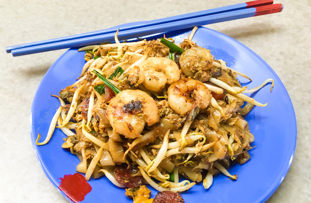 Char Koay Teow, Malaysian stir-fried rice cakes with seafood