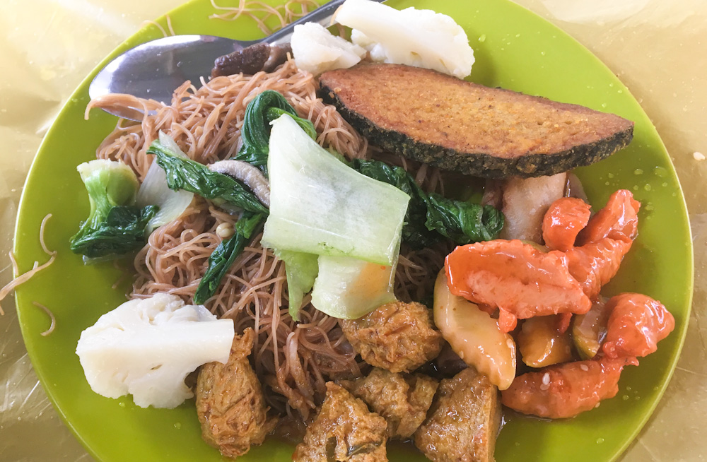 Chinese vegetarian platter served during the Nine Emperor Gods Festival in Penang