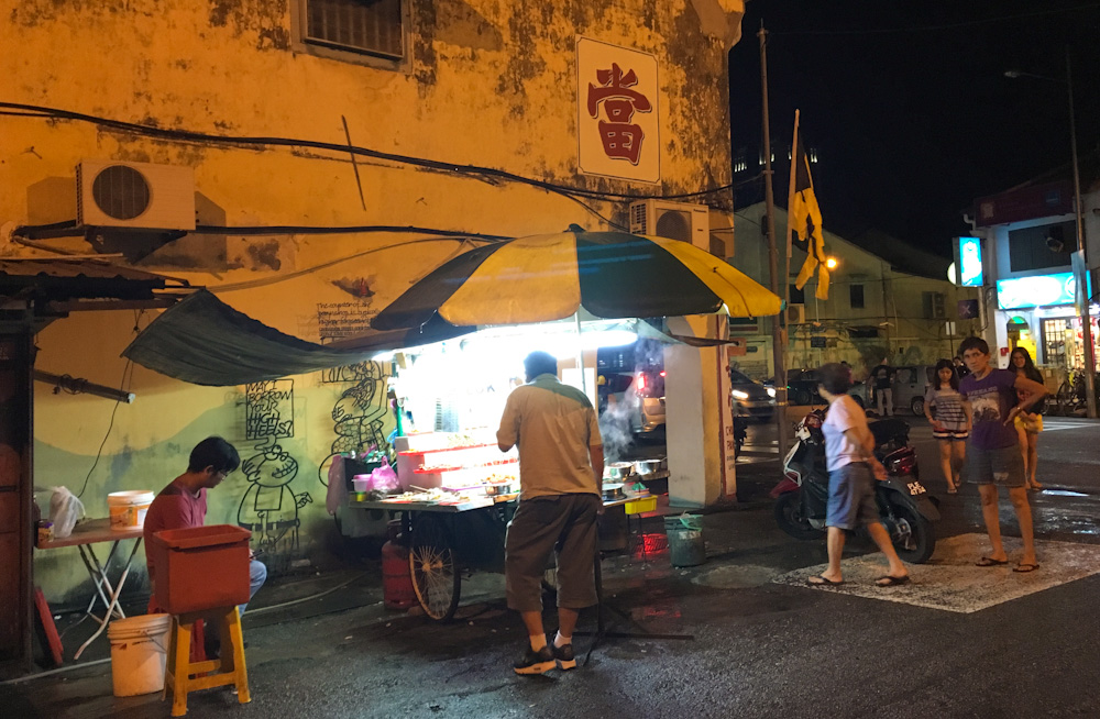 Late night lok lok in Georgetown, Penang
