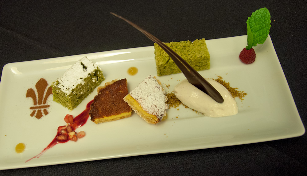 Dessert platter by Chef Paulo Cardoso, using local ingredients grown in and around Penalva do Castelo.