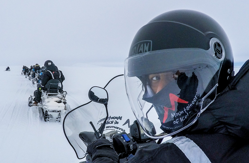 Snowmobile tour with Mountaineers of Iceland