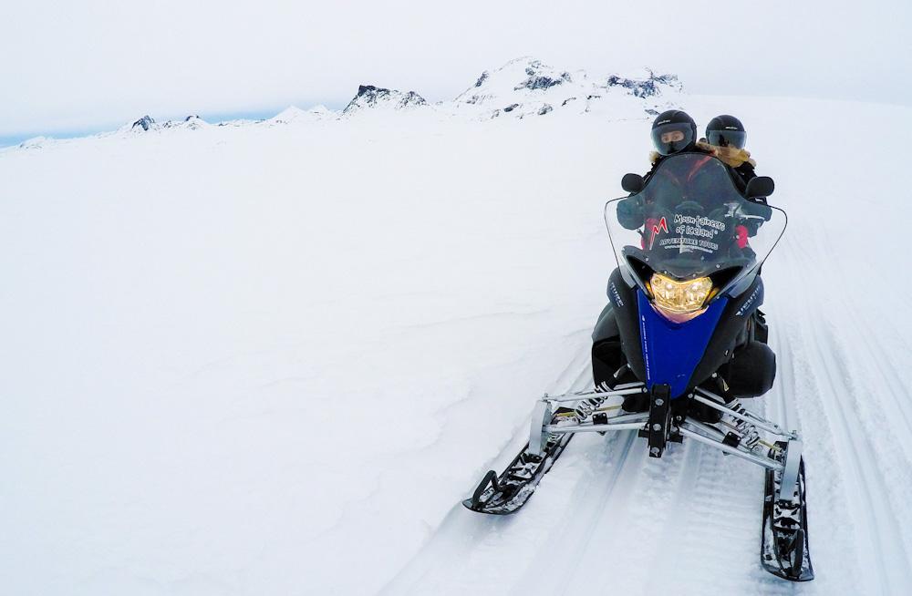 Snowmobiling in Langjökull glacier