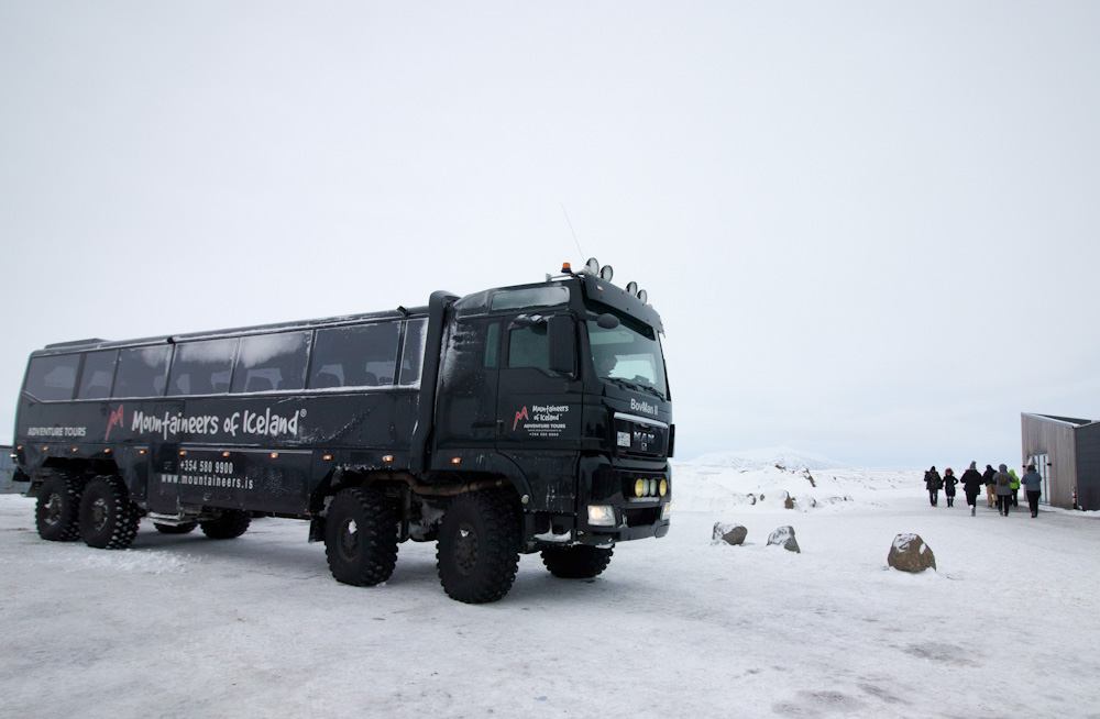 The meeting point for the snowmobile tour with Mountaineers of Iceland is at Gullfoss Cafe
