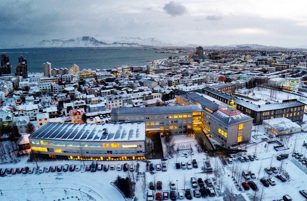 Reykjavik as seen from the top of Hallgrimskirkja church