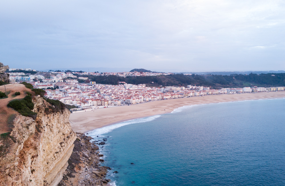 Nazaré as seen from the town's lighthouse.
