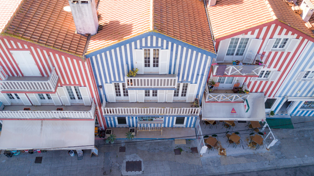 Ílhavo, a colorful town near Aveiro.