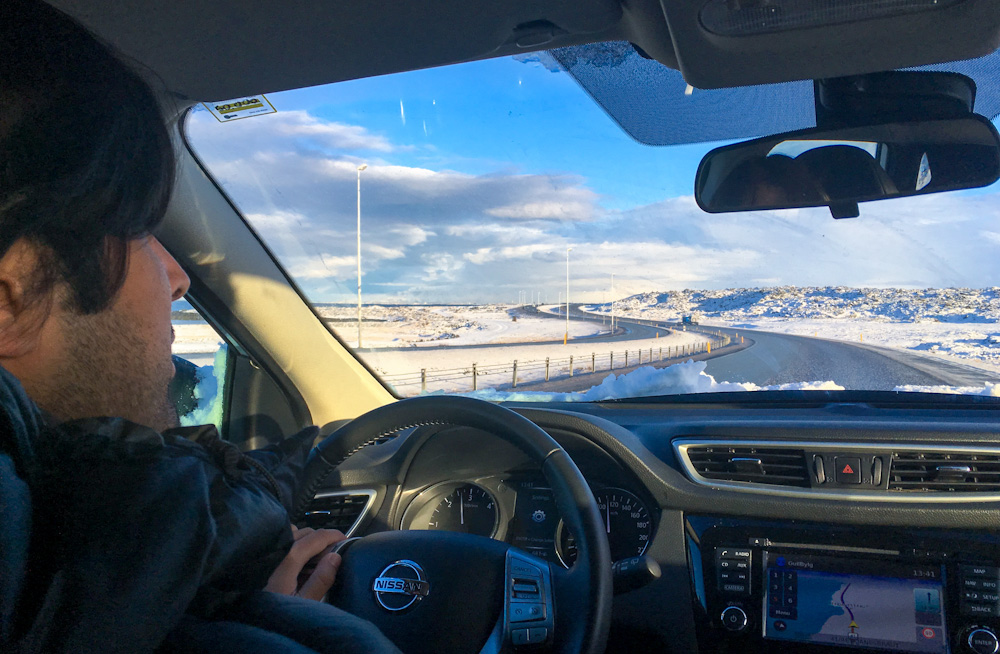Driving in Iceland during winter
