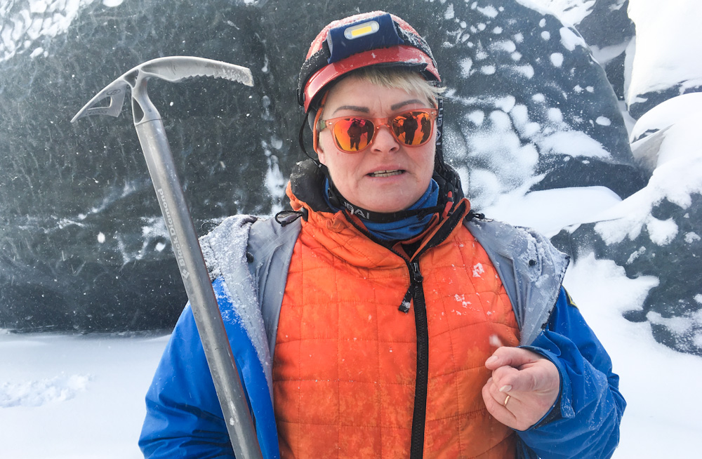Laufey, owner and guide of Glacier Journey in Iceland