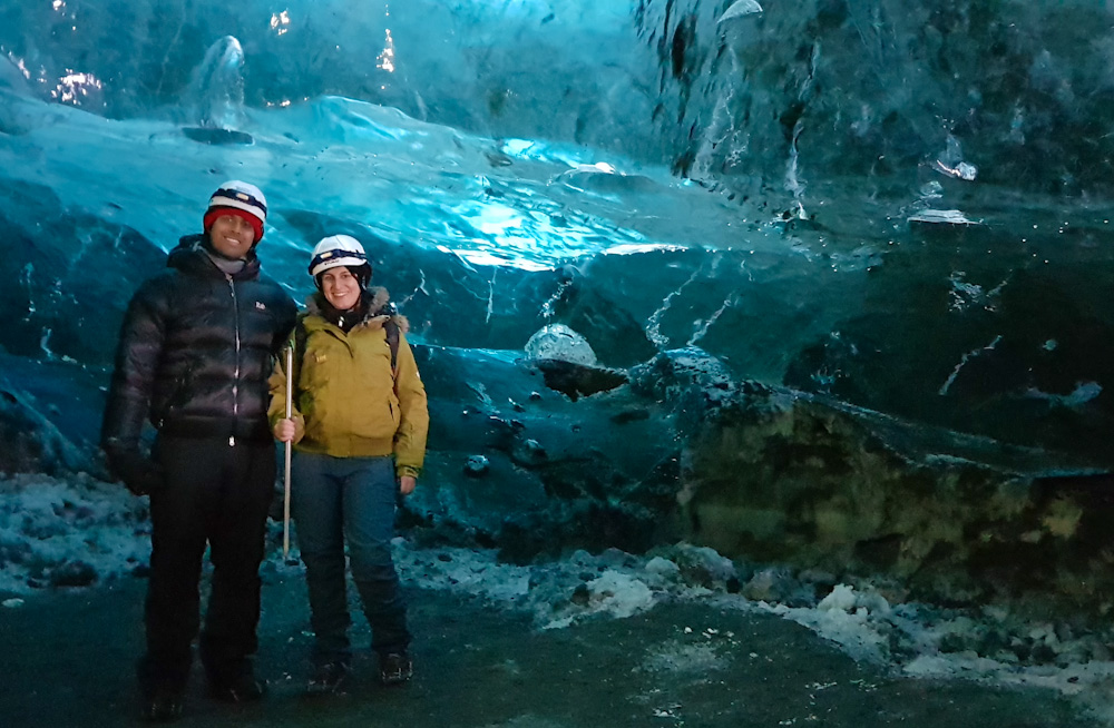 Eventually, our time to pose inside the Crystal Cave also came