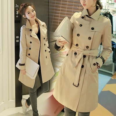 Trench coats in Korean fashion