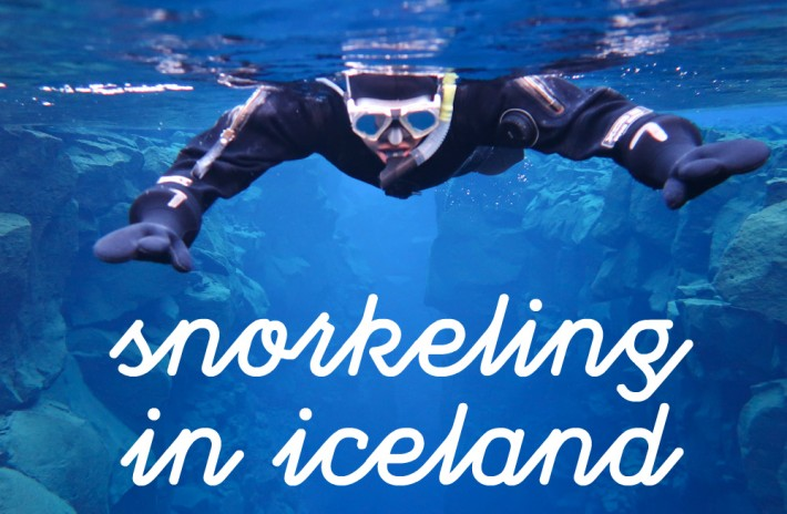 Snorkeling in Silfra's Continental Divide in Iceland