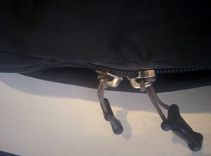 Step 1 - Close the zip to the side of the bag