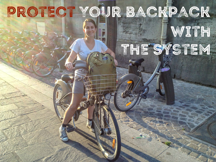Protect your backpack with the system