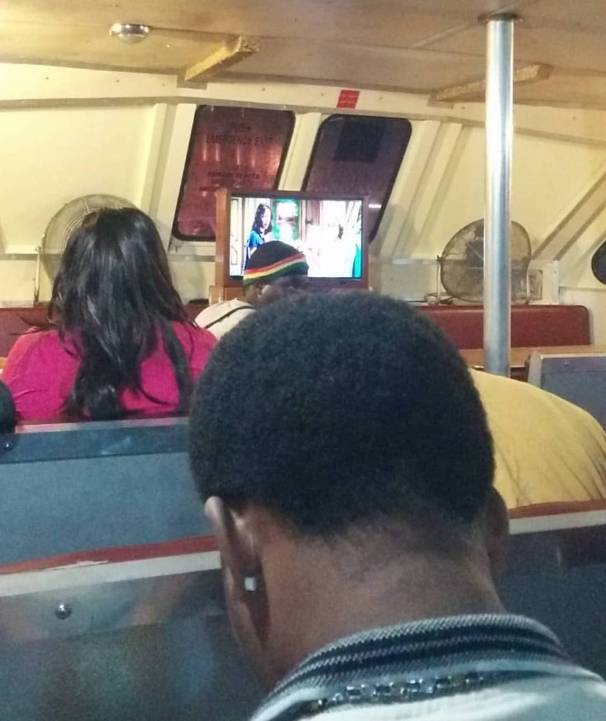 Public Ferry with a TV